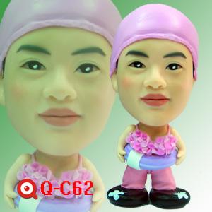 Q-C62-小蝌蚪游泳小女孩